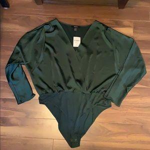 Forever 21 satin bodysuit